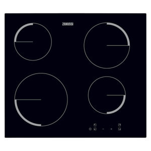 Zanussi ZEV6240FBA Frameless Ceramic Hob, Black Glass