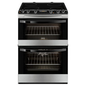 Zanussi ZCV68300XA Electric Cooker, Stainless Steel