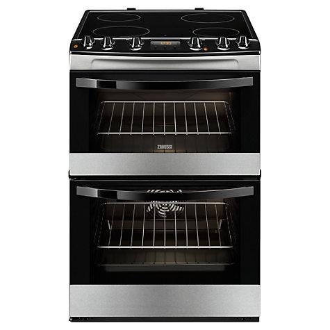 Zanussi ZCV68300XA Electric Cooker, Stainless Steel