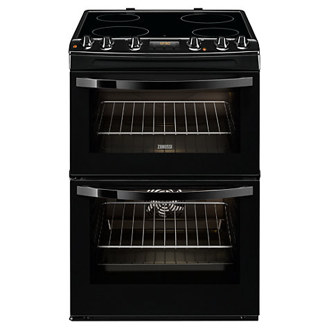 Zanussi ZCV68300BA Electric Cooker, Black