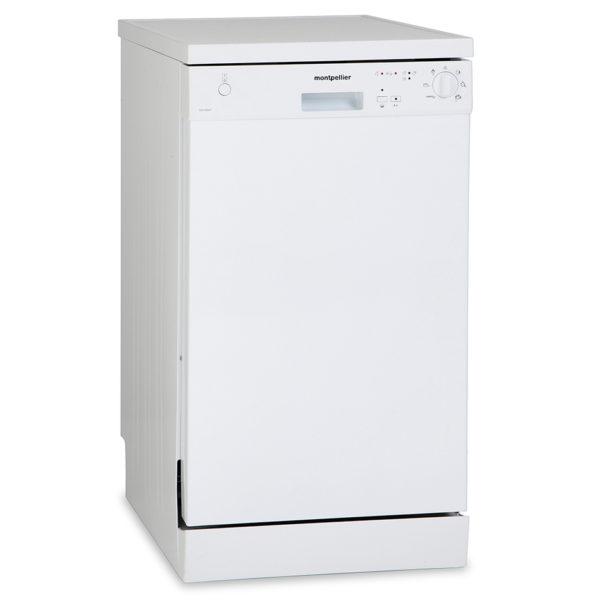 Montpellier DW1064P Freestanding Slimline Dishwasher