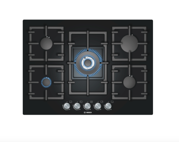 Bosch 70cm Glass Gas Hob - PPQ716B91E