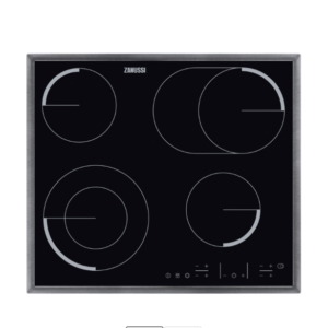 ZANUSSI ZEV6646XBA Electric Ceramic Hob - Black & Stainless Steel The Appliance Centre NI