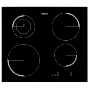Zanussi ZEI6840FBV 59cm Induction Hob - Black The Appliance Centre NI