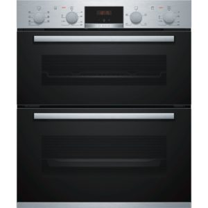 BOSCH Built-under Double Oven Steel - NBS533BS0B The Appliance Centre NI