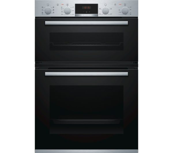 BOSCH Electric Double Oven Brushed Steel - MBS533BS0B The Appliance Centre NI