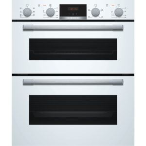 BOSCH Built-under Double Oven White - NBS533BW0B The Appliance Centre NI