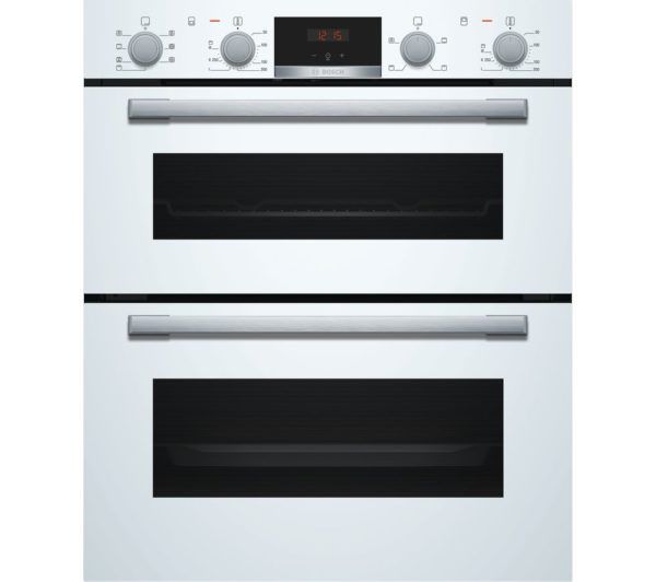 BOSCH Built-under Double Oven Black - NBS533BB0B The Appliance Centre NI