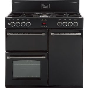 Belling CLASSIC 90DFT 90cm Dual Fuel Range Cooker – Black The Appliance Centre NI