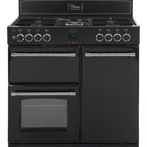 Belling CLASSIC900GT 90cm Gas Range Cooker – Black The Appliance Centre NI