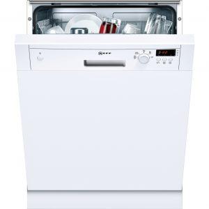 NEFF S41E50W1GB Full-size Semi-integrated Dishwasher - White The Appliance Centre NI