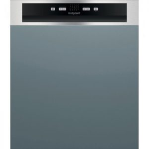Hotpoint HBC2B19XUKN Semi Integrated Standard Dishwasher - Silver Control Panel - F Rated The Appliance Centre NI