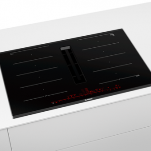 Bosch PXX875D67E 80cm Induction Hob with Integrated Ventilation System-Black The Appliance Centre NI