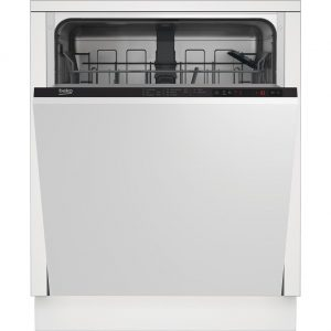 Beko DIN15322 Fully Integrated Standard Dishwasher - Black Control Panel The Appliance Centre NI